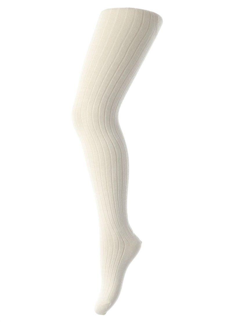 Image of Strømpebukser i bomuldsrib fra MP - Off-white (130-39)