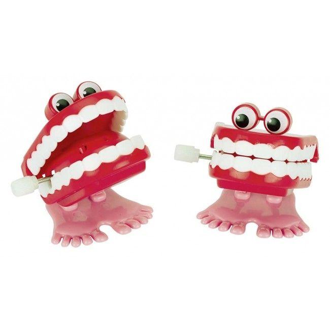 Klaprende tænder m. optræk fra Goki (1 stk)