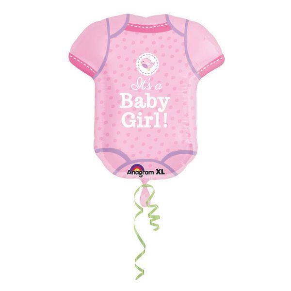 Ballon - folie - supershape babybody - girl (55x60cm) fra Amscan på babygear.dk