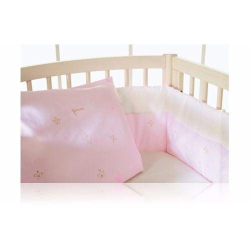 Image of   Sengerand fra BabyDan - Halv længde - Pink Princess (Øko-Tex100)
