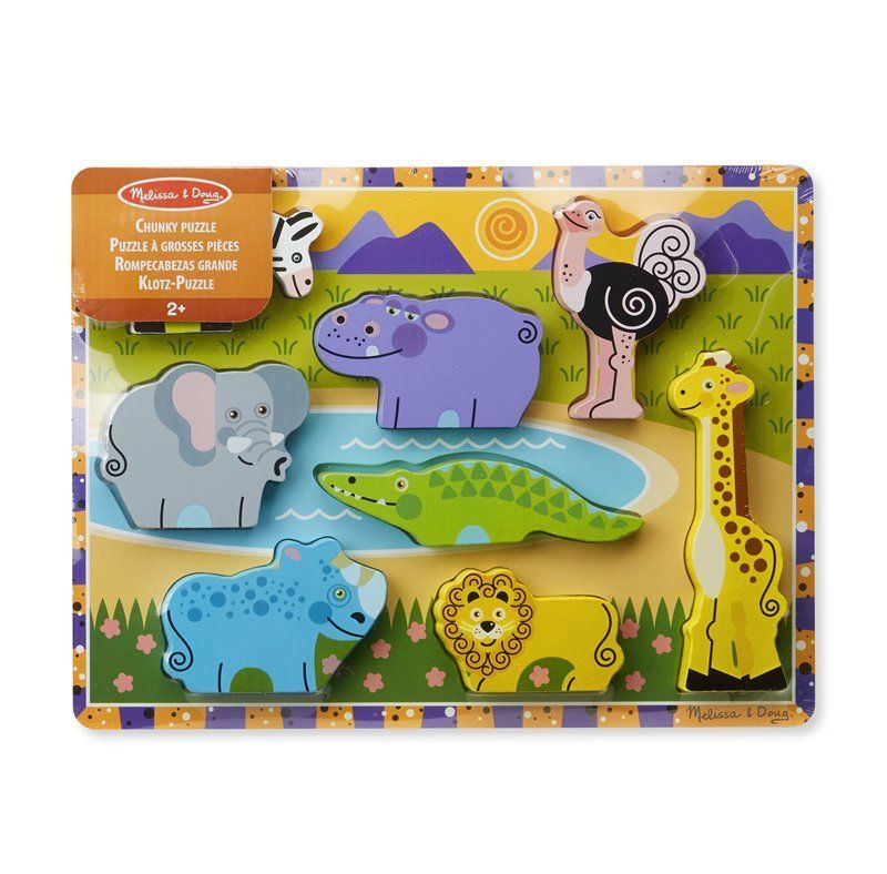 Image of Puslespil fra Melissa & Doug - Safari Chunky Puzzle (13722_1)