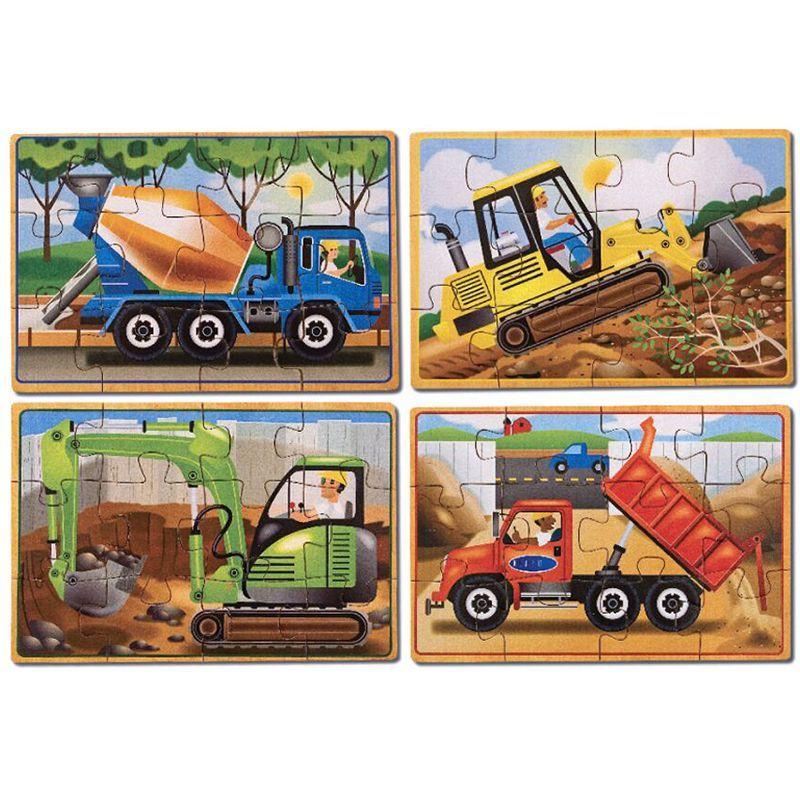 Billede af Puslespil In a Box fra Melissa & Doug (4 stk) - Construction