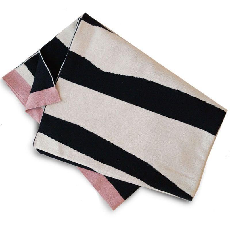 Tæppe fra Elodie Details - Bomuldsstrik - Zebra Sunshine