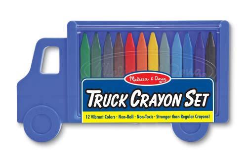 Image of   Farvekridt fra Melissa & Doug - Truck Crayon Set
