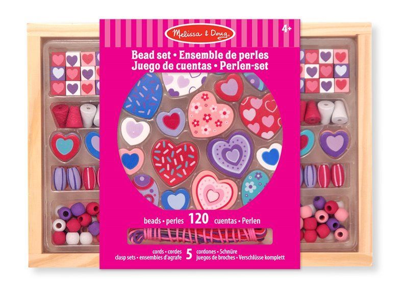 Image of Smykkesæt fra Melissa & Doug - Sweet Hearts Bead Set (14175)