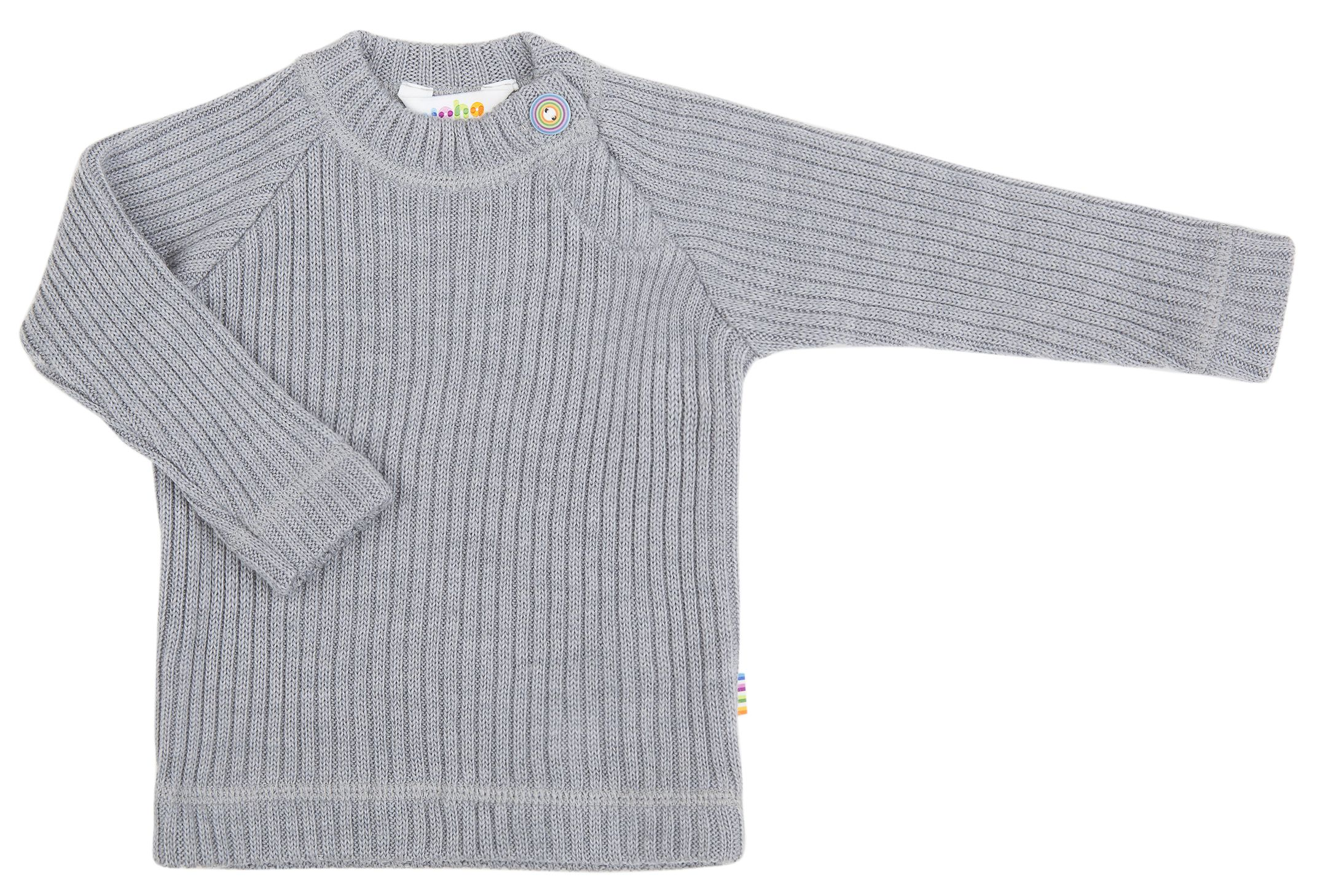 Image of   Bluse i Baby Uld (Soft Wool) fra Joha - Grey melange