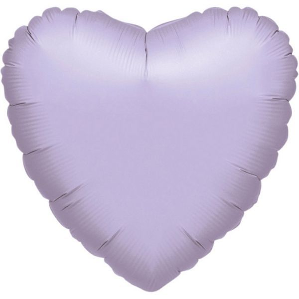 Ballon - Folie - SuperShape - Metallic Pearl Pastel Lilac - Heart (43cm)