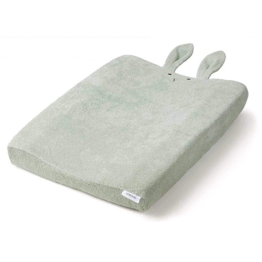 Image of Betræk til puslepude fra Liewood - Egon - Rabbit dusty mint (LW12389-0036)