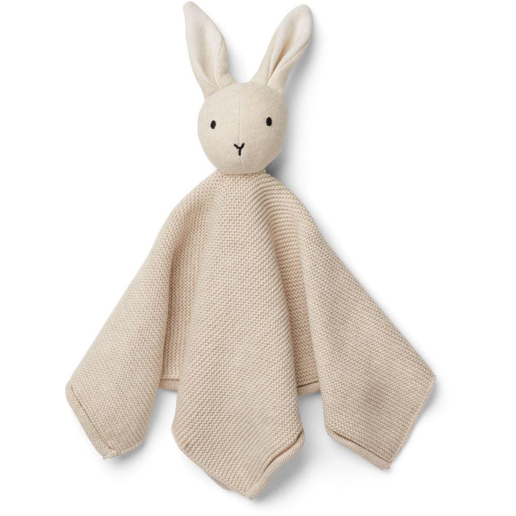 Strikket nusseklud fra Liewood - Milo Rabbit Beige