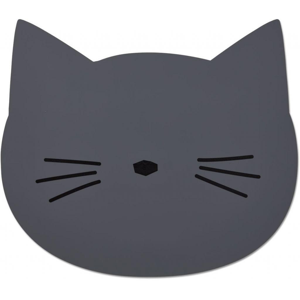 Image of   Dækkeserviet fra Liewood - Cat Stone Grey