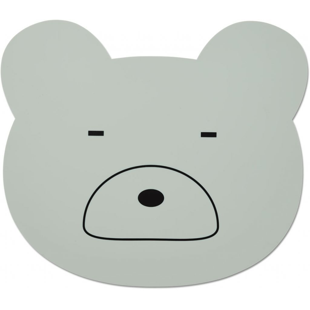 Image of Dækkeserviet fra Liewood - Mr. Bear Dusty Mint (LW12565-0060)