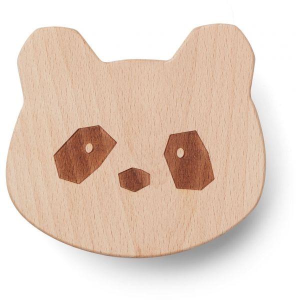 Image of   Knage i naturligt træ fra Liewood - Panda
