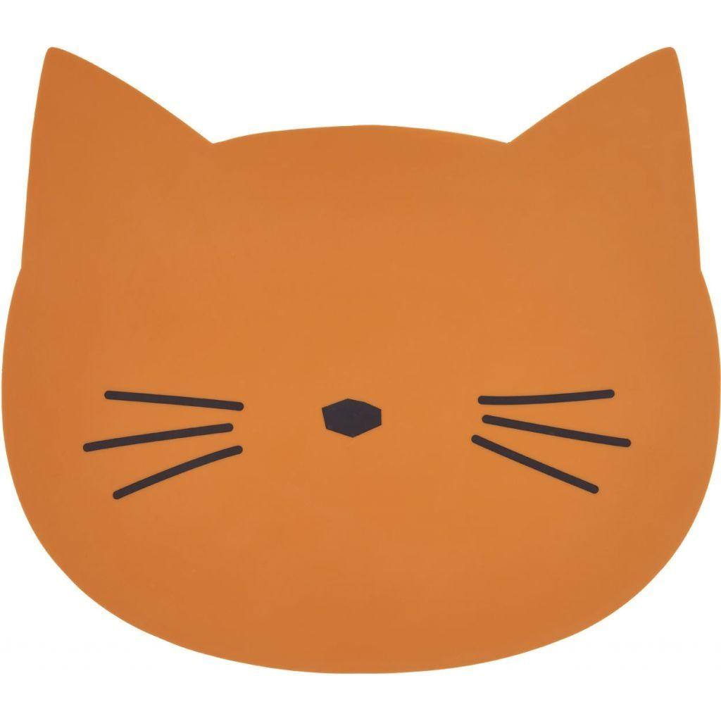 Image of Dækkeserviet fra Liewood - Cat Mustard (LW12565-0024)