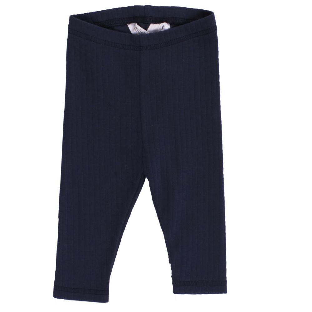 Image of   Cozy Rib leggings fra Müsli - Navy (GOTS)