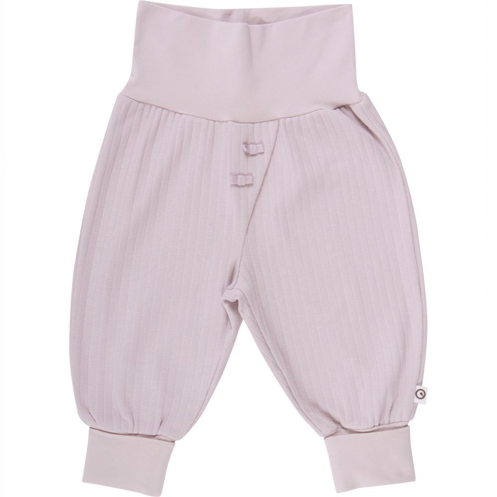 Image of   Cozy Rib Bow pants fra Müsli - Dusty Rose (GOTS)