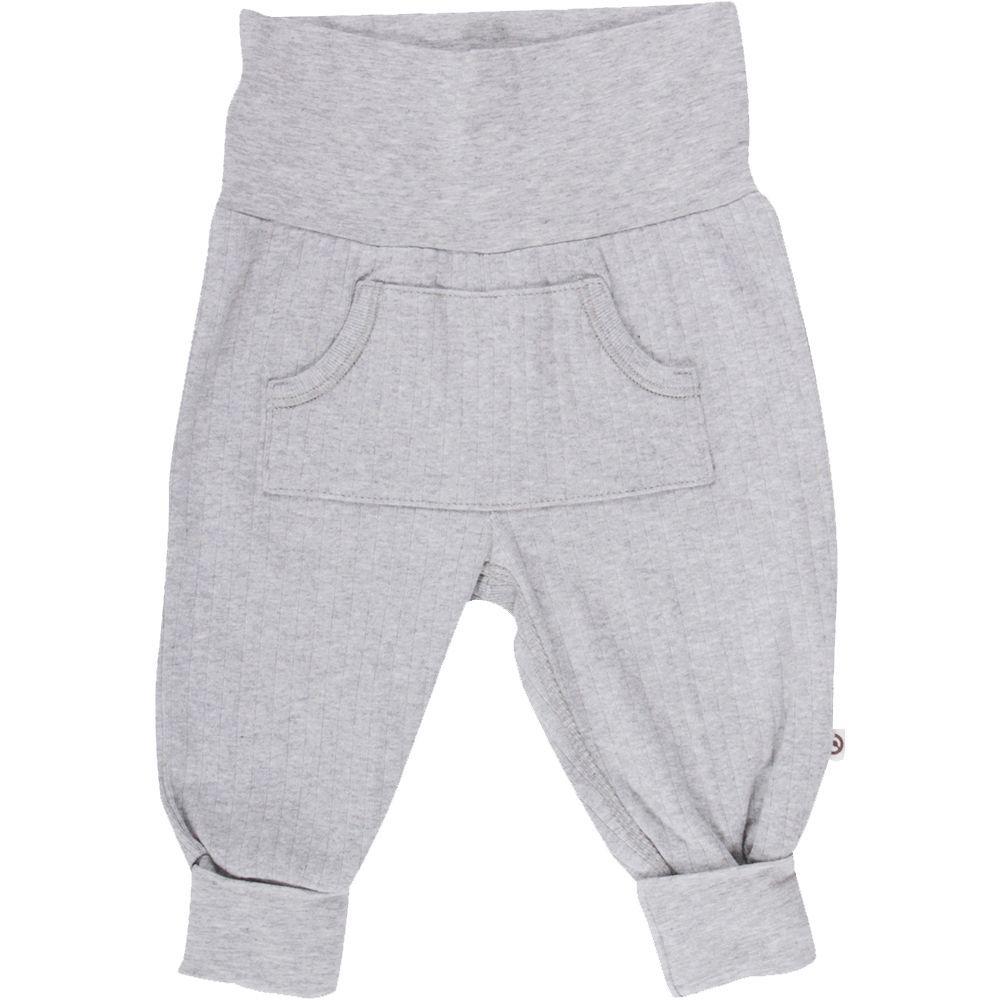 Billede af Cozy Rib pocket pants fra Müsli - Pale Grey (GOTS)