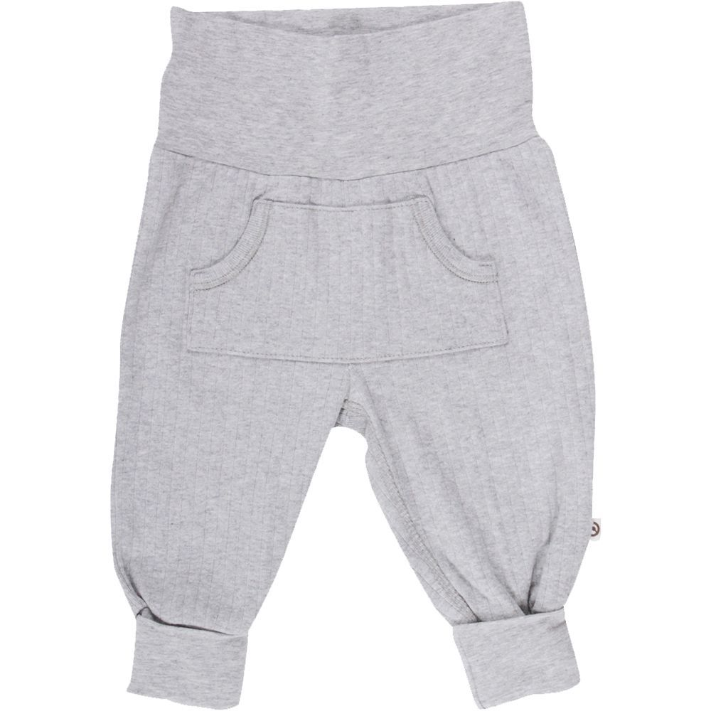 Image of Cozy Rib pocket pants fra Müsli - Pale Grey (GOTS) (1535025100-207670000)