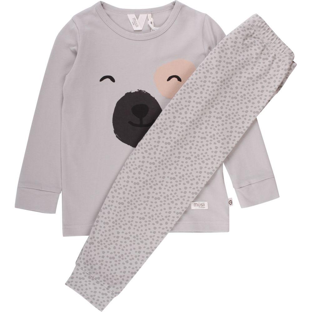 Image of   Pyjamas fra Müsli - Bear - Mist blue