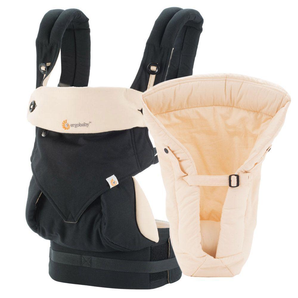 Bæresele fra Ergobaby - 4 Position 360 - Inkl. baby insats - Black/Camel