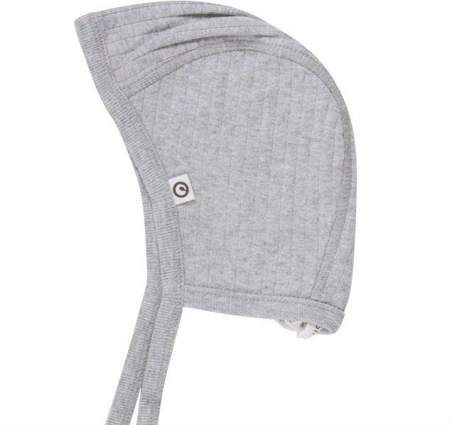 Billede af Cozy Rib hjelm fra Müsli - Pale Grey (GOTS)