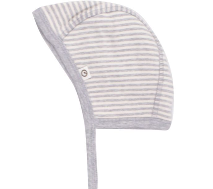 Image of   Hjelm fra Müsli - Pale Grey Stripe (GOTS)