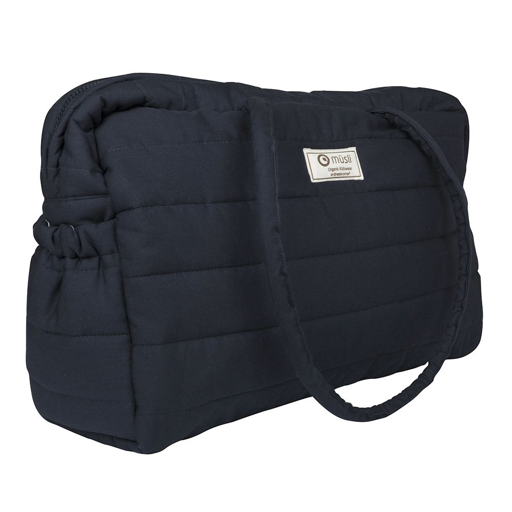 Mommy bag fra Müsli - Quilted - Navy (GOTS)