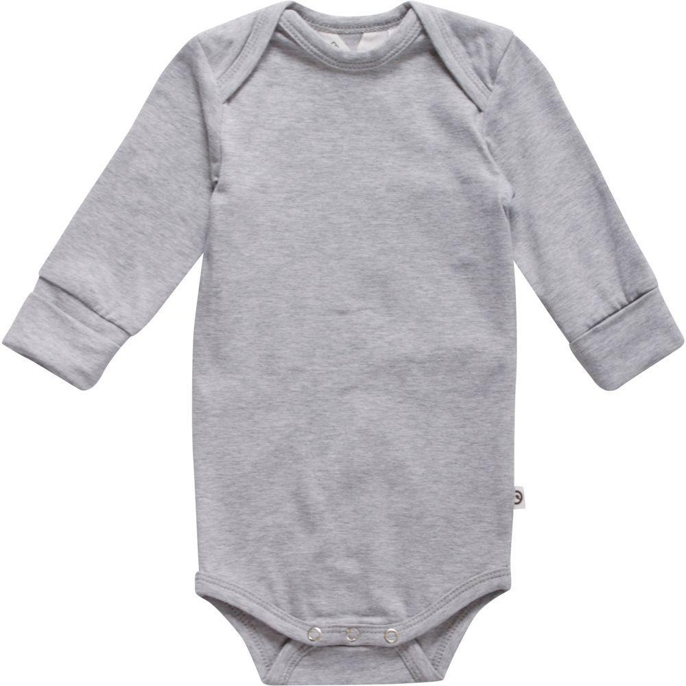 Image of Cozy Me langærmet body fra Müsli - Pale Grey (GOTS) (1582014200-207670000)