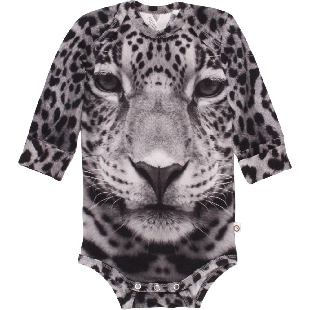 Billede af Langærmet body fra Müsli - Spicy Leopard (GOTS)