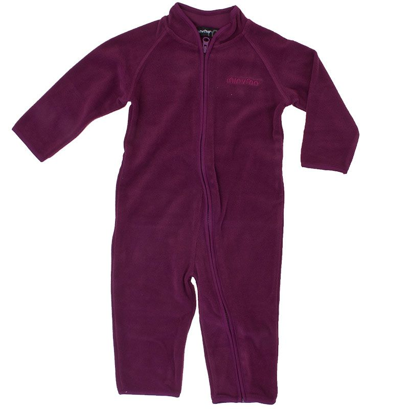 Image of   Fleece dragt fra Minymo - Dark Purple
