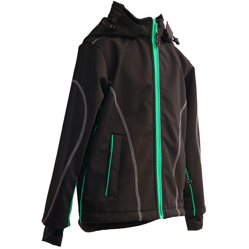 Billede af Softshell jakke fra Mikk-Line - Vind- og Vandtæt - Sort m. grøn