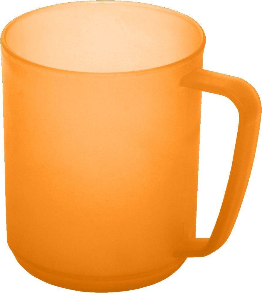 Billede af Plast krus m. hank fra Plast Team - Semi-tranparent - Appelsin