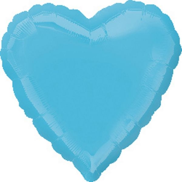 Ballon - Folie - SuperShape - Caribbean Blue - Heart (43cm)