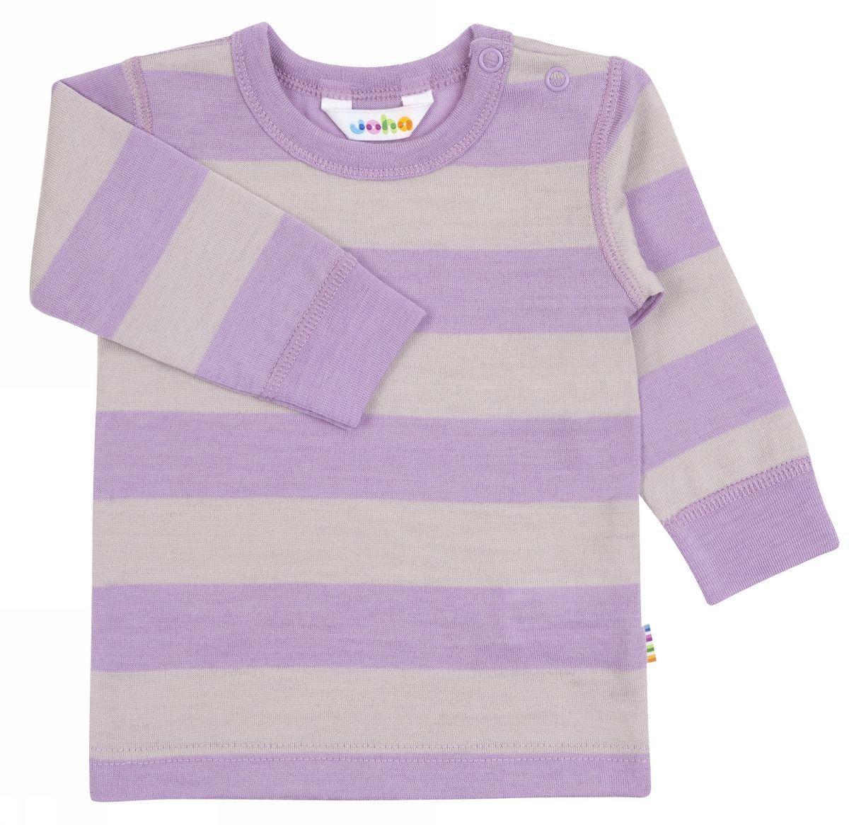 Image of   Bluse med lange ærmer fra Joha i uld - Wide Stripe
