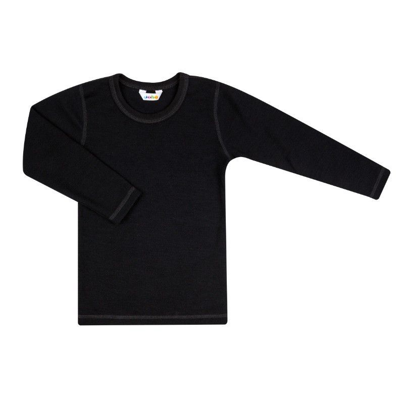 Image of   Uld-bomuld trøje fra Joha - Sort