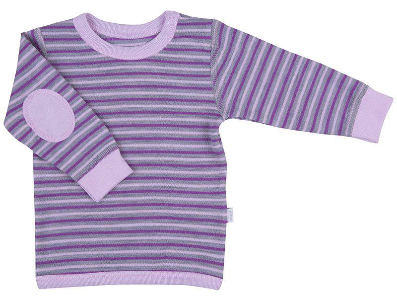 Image of   Trøje i uld / bomuld fra Joha - 3 Stripe - Rosa