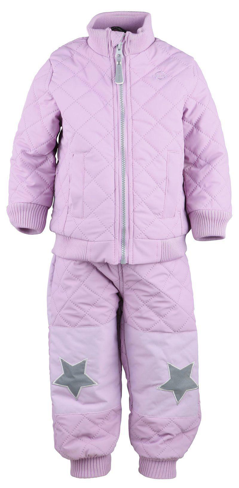 Billede af Coated termotøj fra Mikk-Line - Foret jakke - Violet