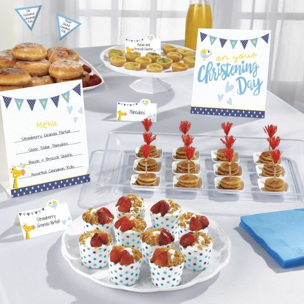 Buffet Kit - Barnedåb - Dreng (12 dele)