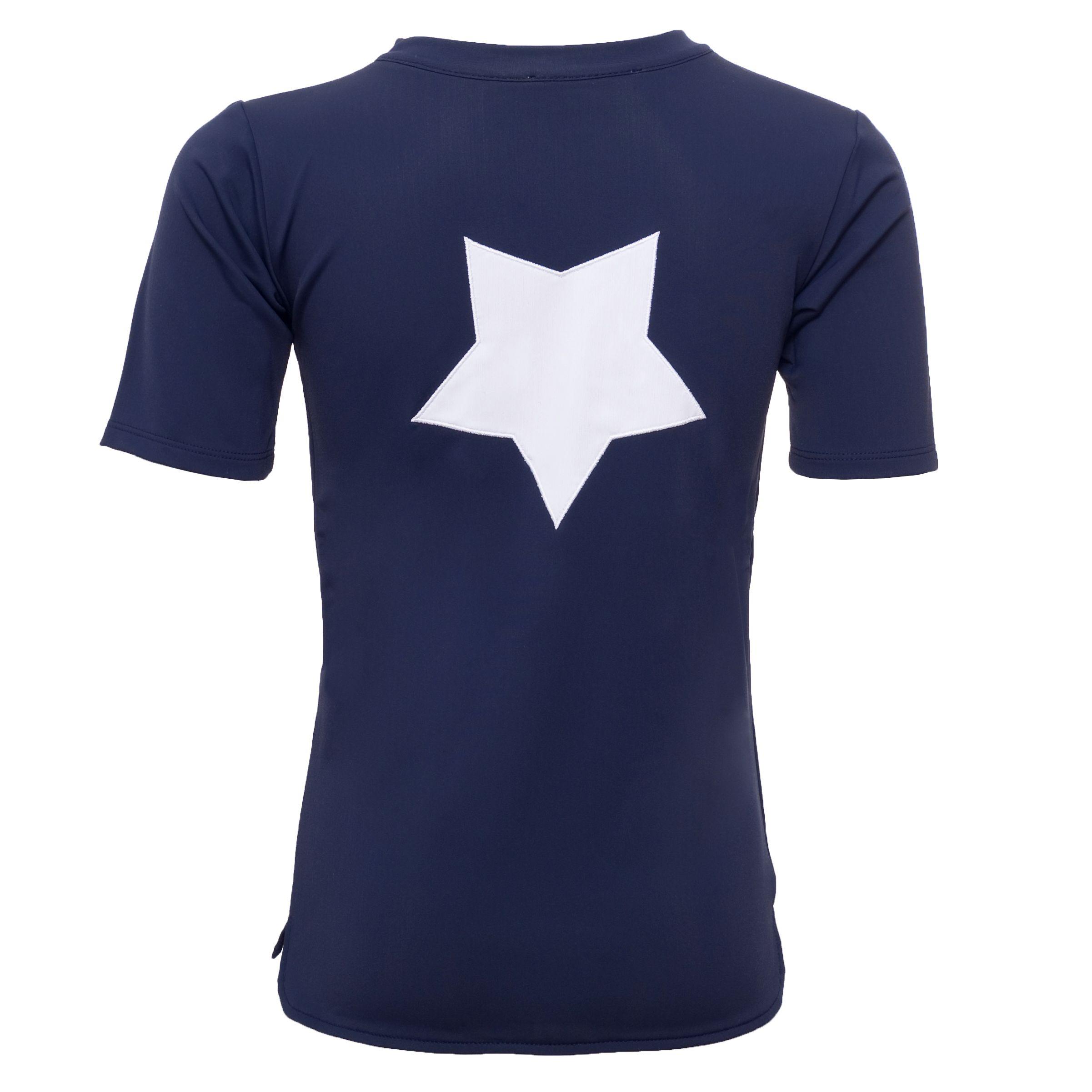 Bluse fra Petit Crabe - K/Æ - UV50 - Star - Blue
