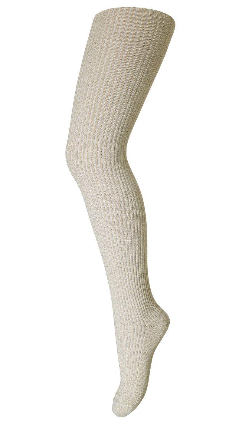 Image of Strømpebukser i bambus-rib fra MP - Glimmer - Off-white (17003-39)