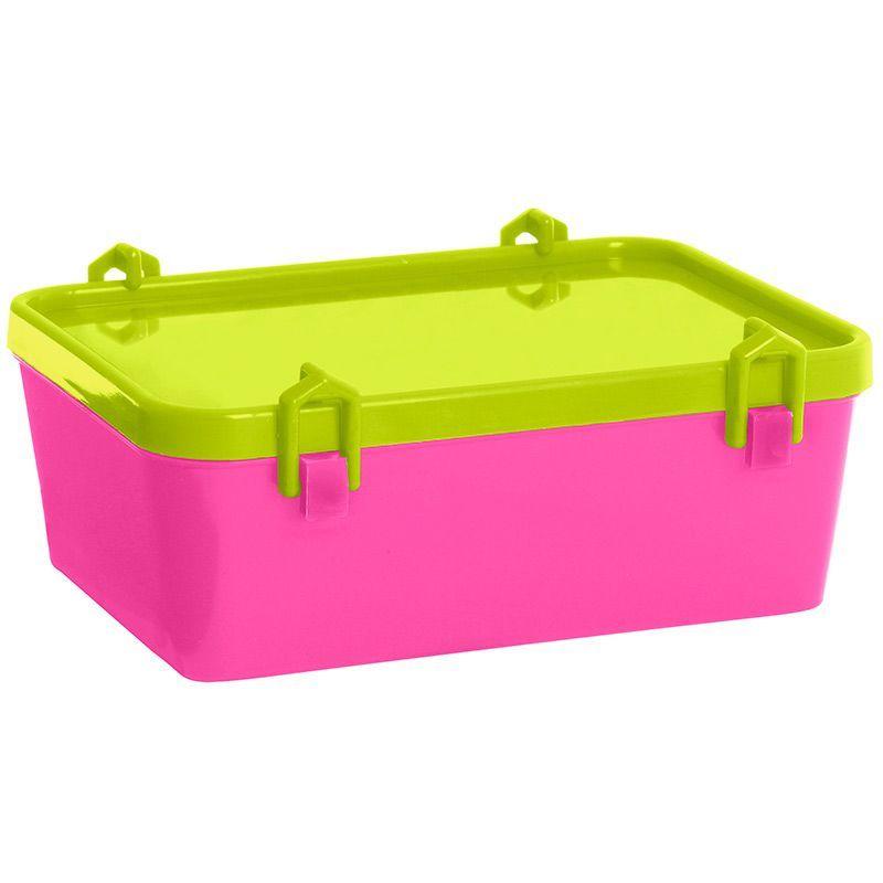 Image of   Madkasse fra Plast Team - klik-låg - Pink / Lime