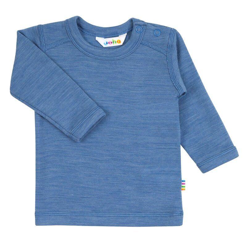 Image of   Trøje m. lange ærmer fra Joha i uld i Dusty blue