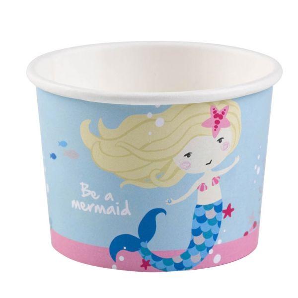 Image of   Dessertskåle - Ice Bowls - Be a Mermaid (8 stk)