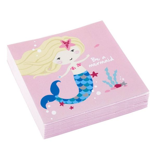 Servietter - Be a Mermaid 25x25 cm (20 stk)