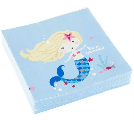 Servietter - Be a Mermaid 33x33 cm (20 stk)
