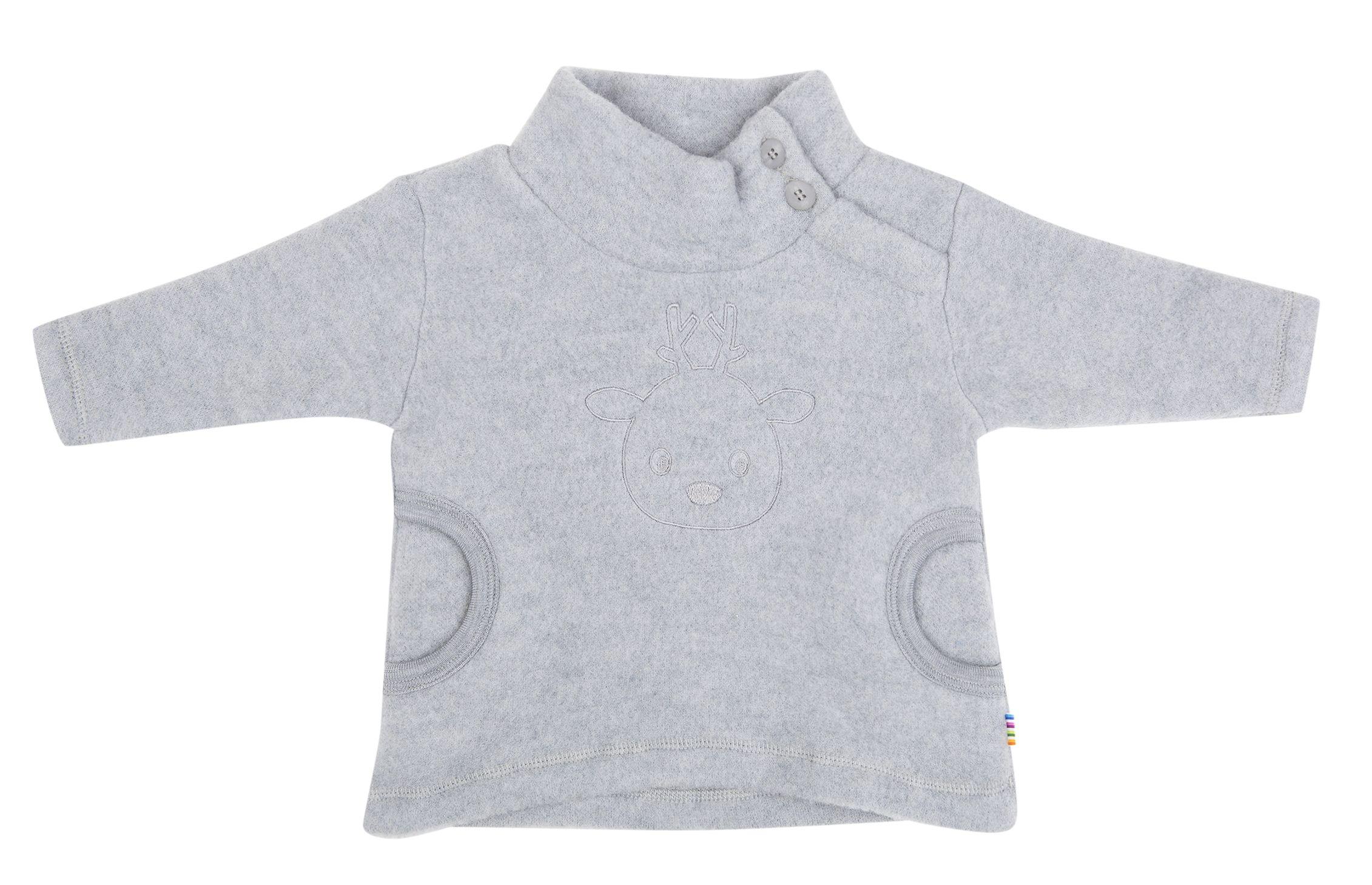 Image of   Anorak i Baby Uld (Soft Wool) fra Joha - Grey melange