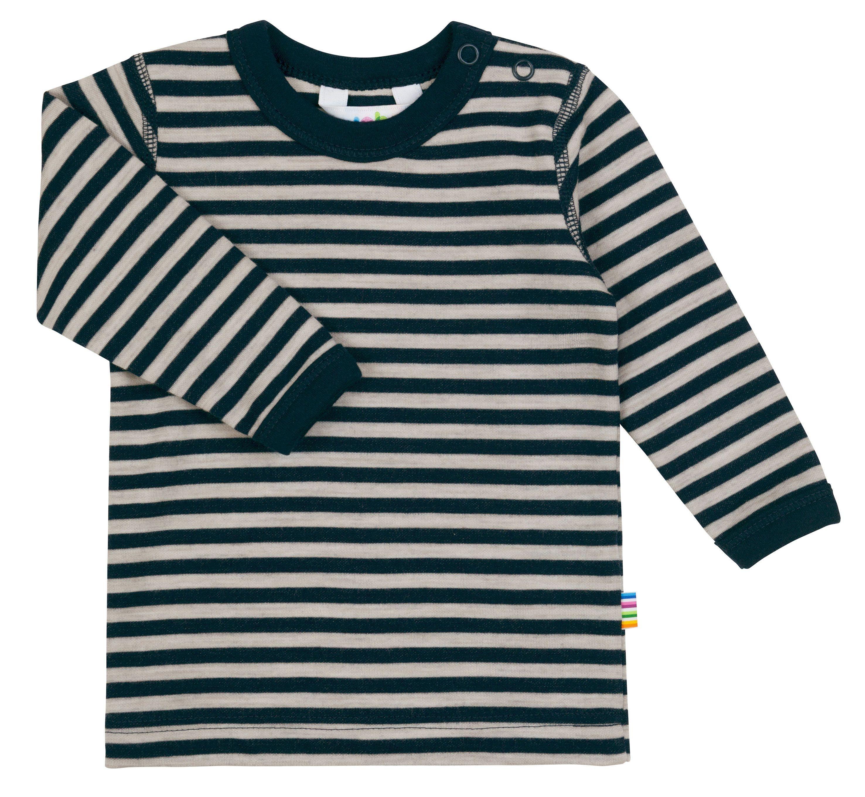 Image of   Trøje fra Joha i uld-bomuld m. Blue-grey stripe