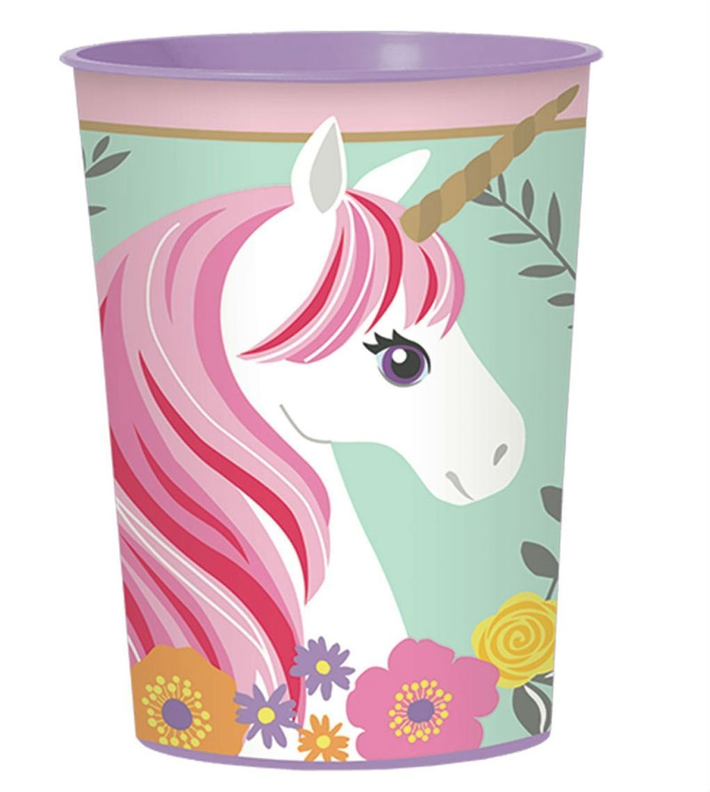 Image of Bæger i plast m. Magical Unicorn (473ml) (421929)