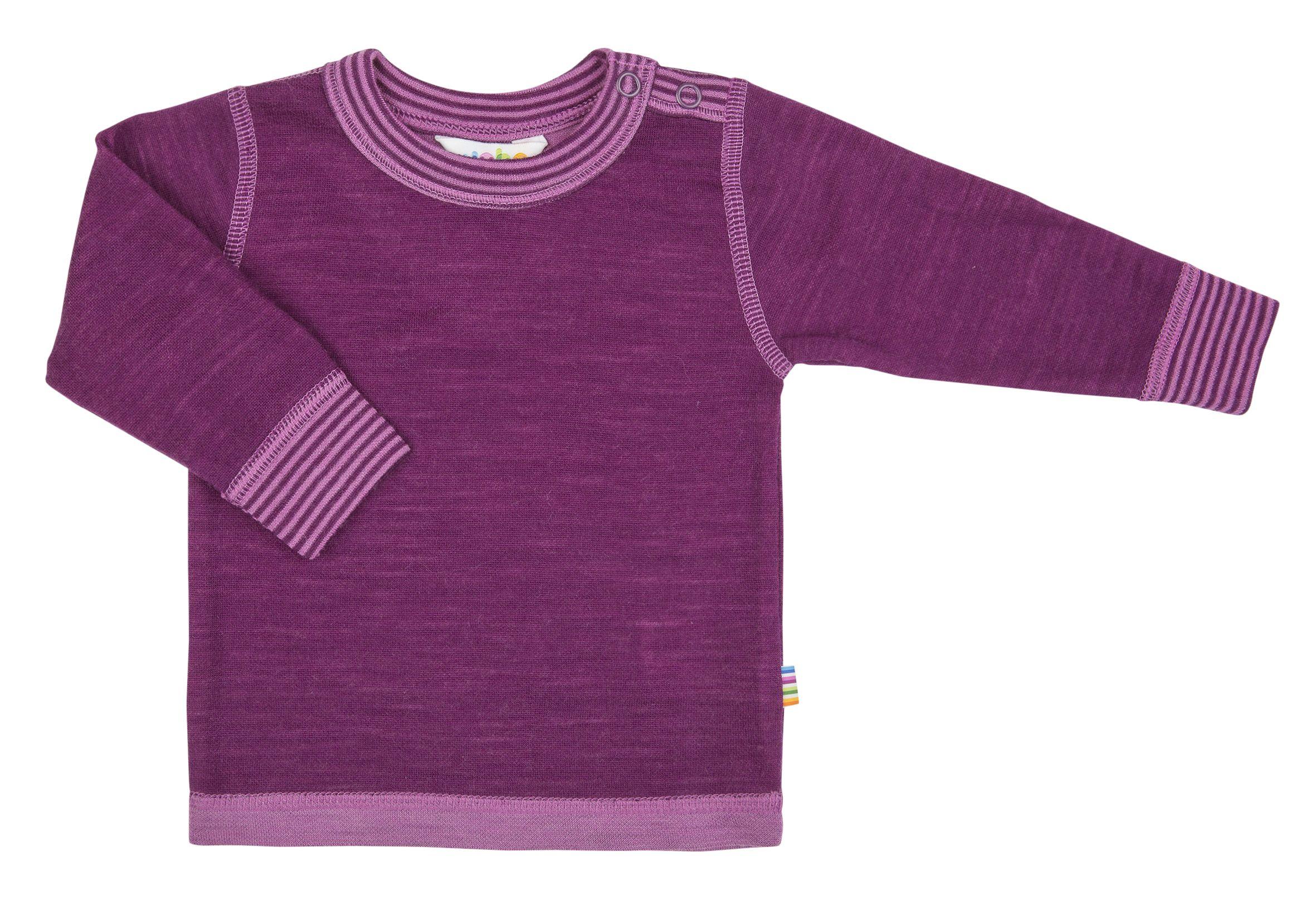 Image of   Uld trøje fra Joha - Bordeaux melange m. fuchsia
