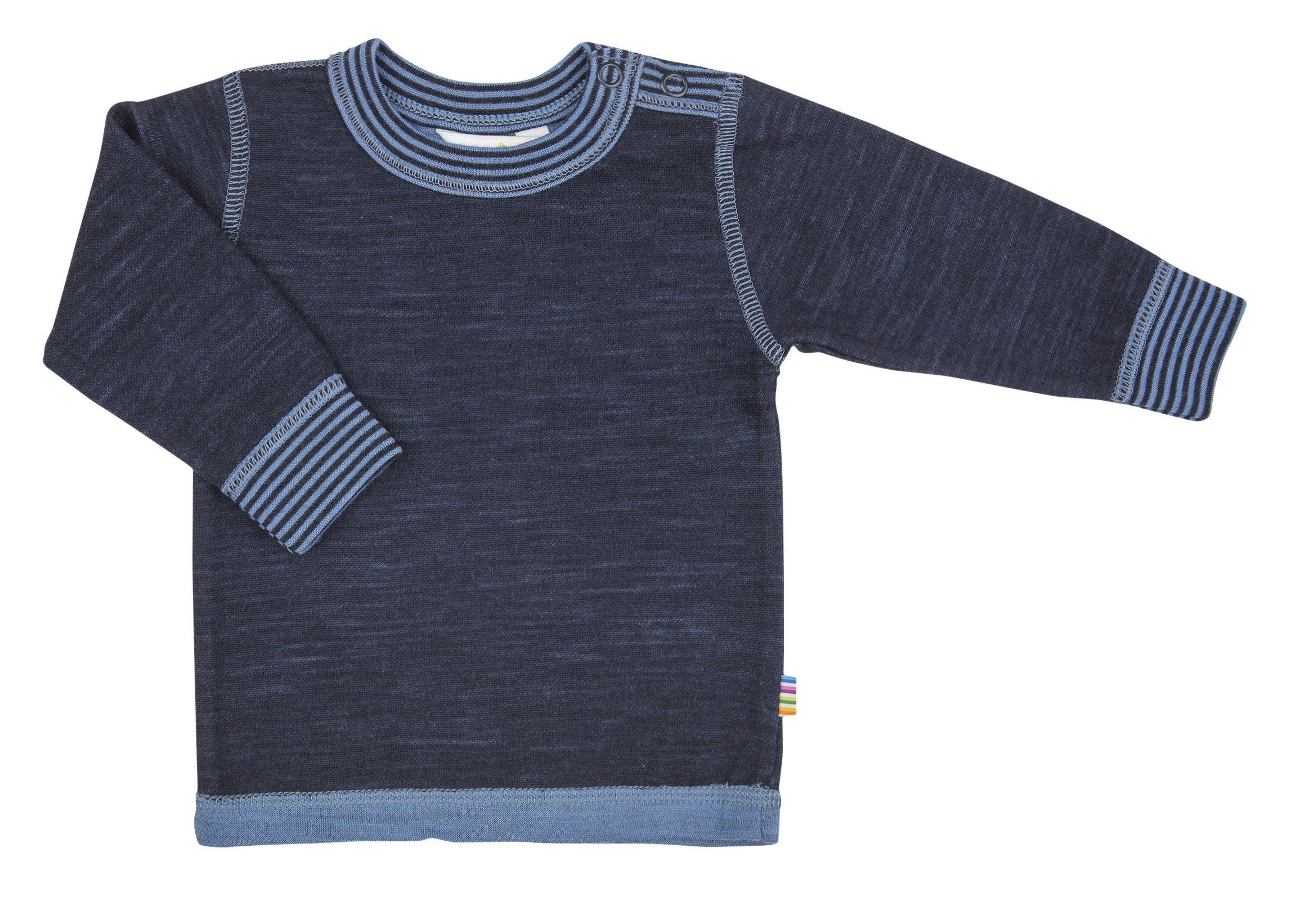 Image of   Uld trøje fra Joha - Marine melange m. blå