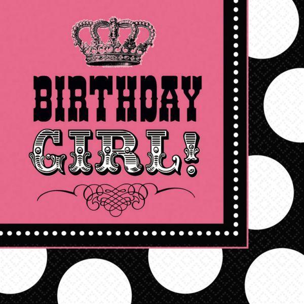 Image of Servietter - Rock Star Birthday Girl (16 stk) (519508)